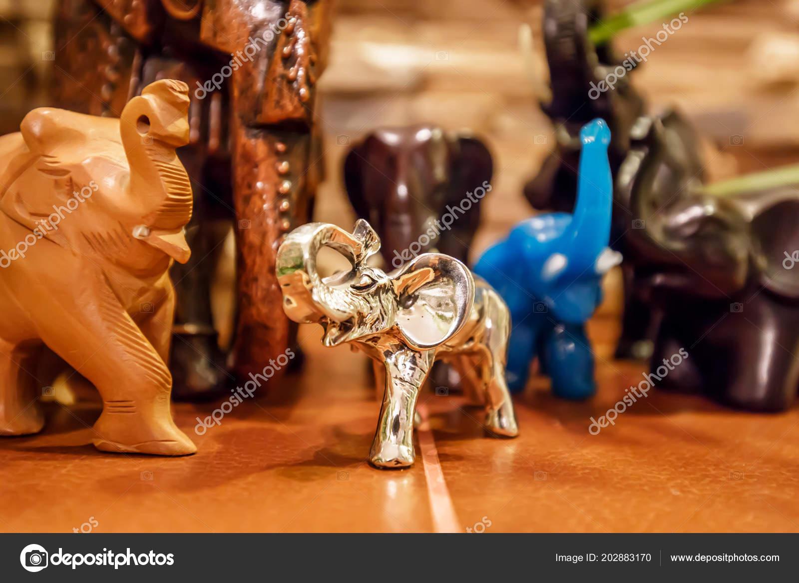 Souvenir Elephant Hand Symbol Gift Holiday Wish Good Luck Stock