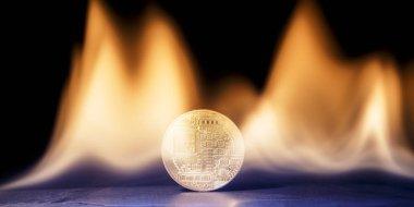 İlk madeni para sunan yatırım risk sembolü. Elektronik para Ico'nın yanıyor.