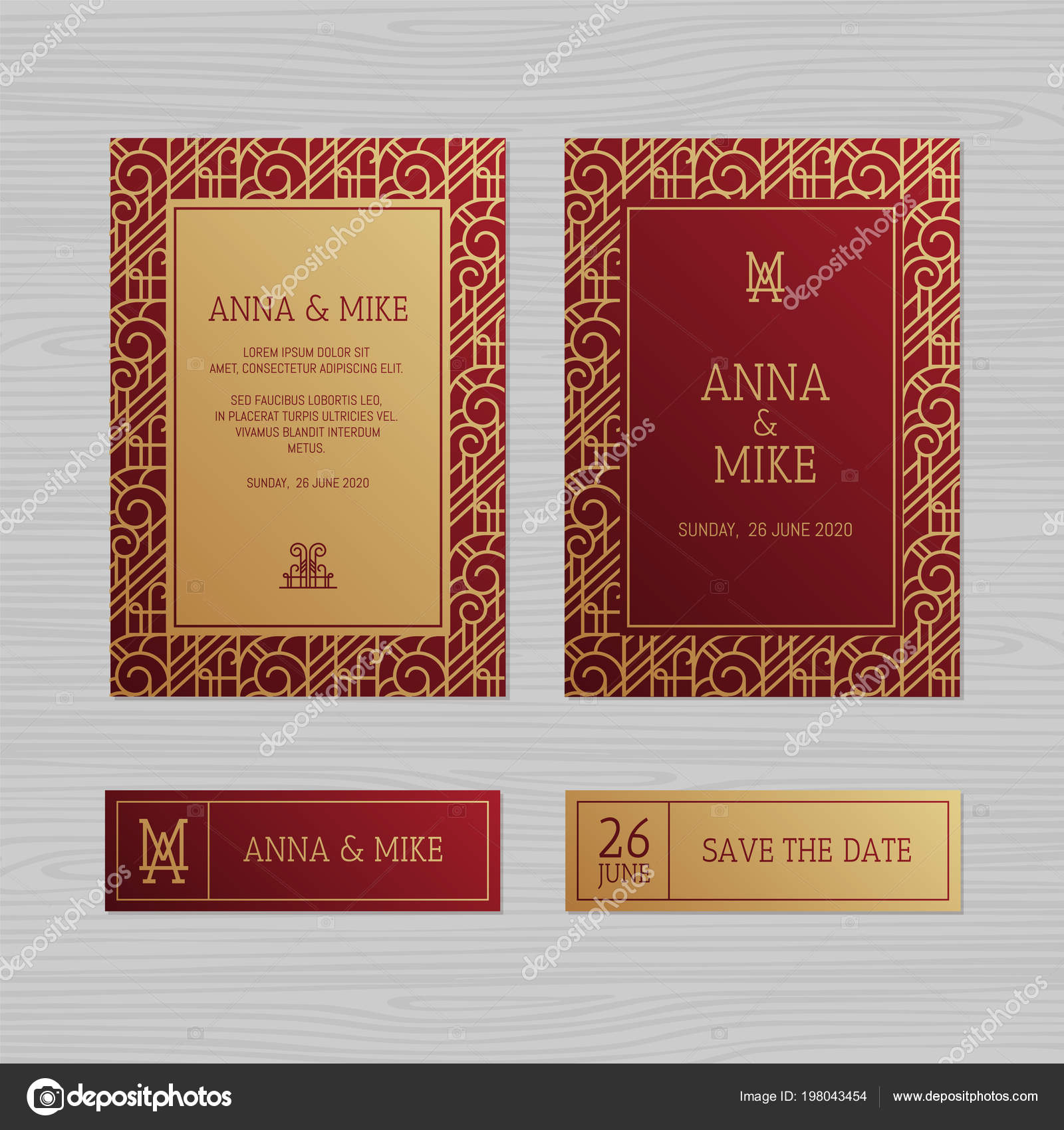 Perfect Art Nouveau Wedding Invitation Image Collection ...