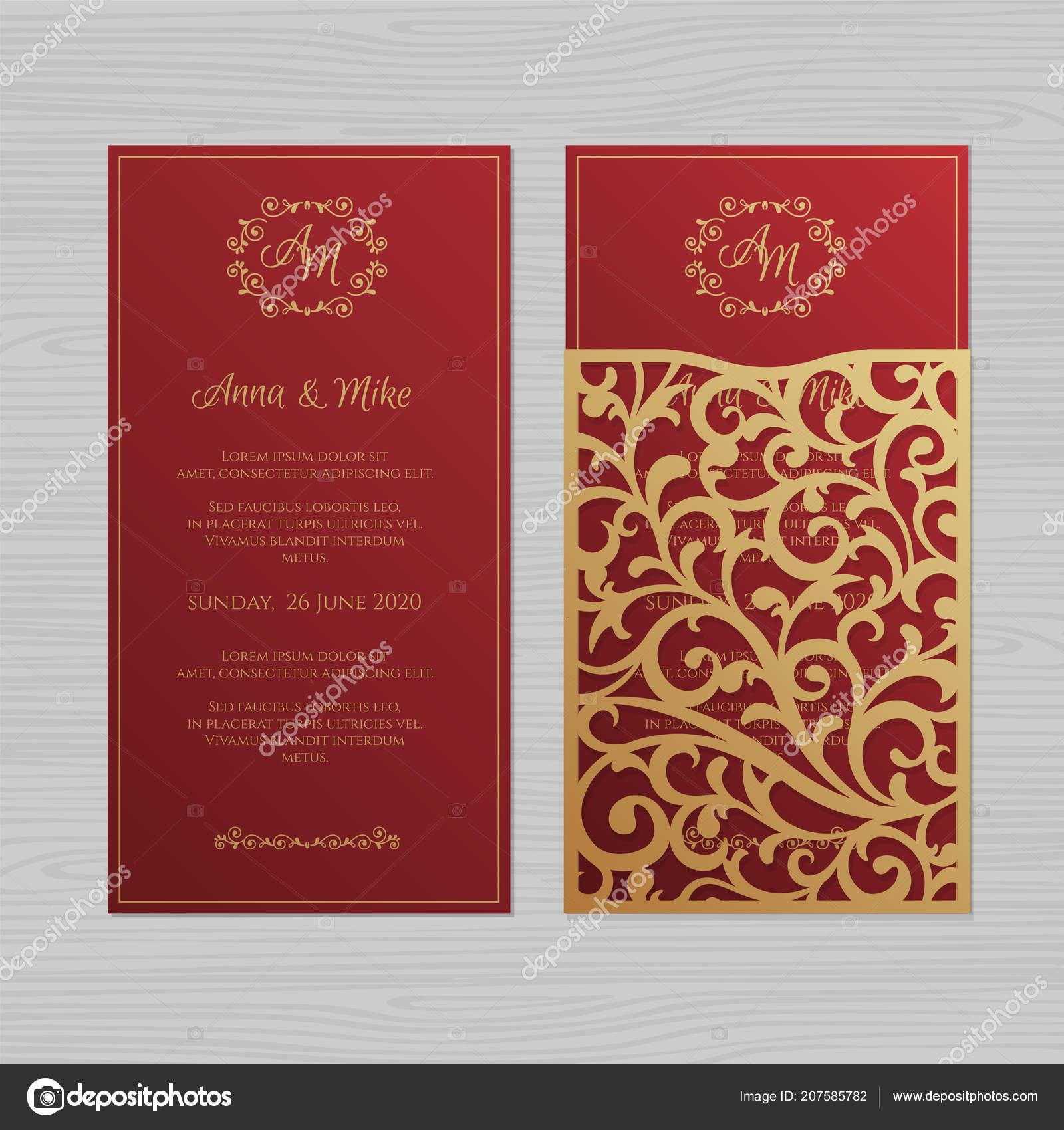 Luxury Wedding Invitation Greeting Card Vintage Floral Ornament ...