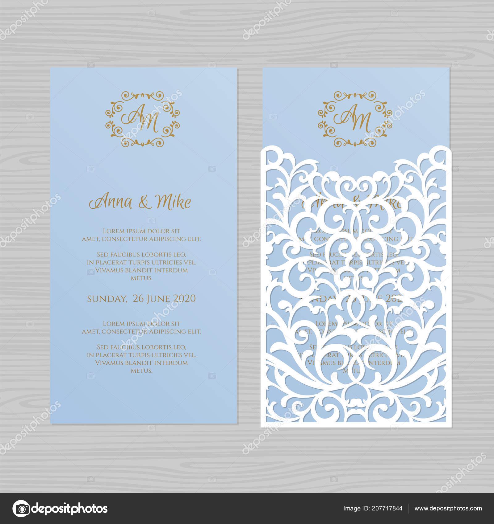 Luxus Hochzeitseinladung Oder Grusskarte Mit Vintage Floral Ornament
