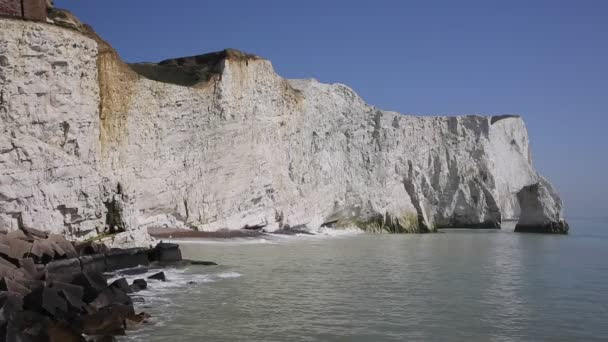 Seaford East Sussex uk beautiful white chalk cliffs