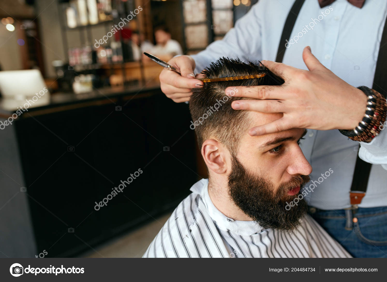 Men Haircut Barber Cutting Man Hair Barber Shop Male Hairdresser