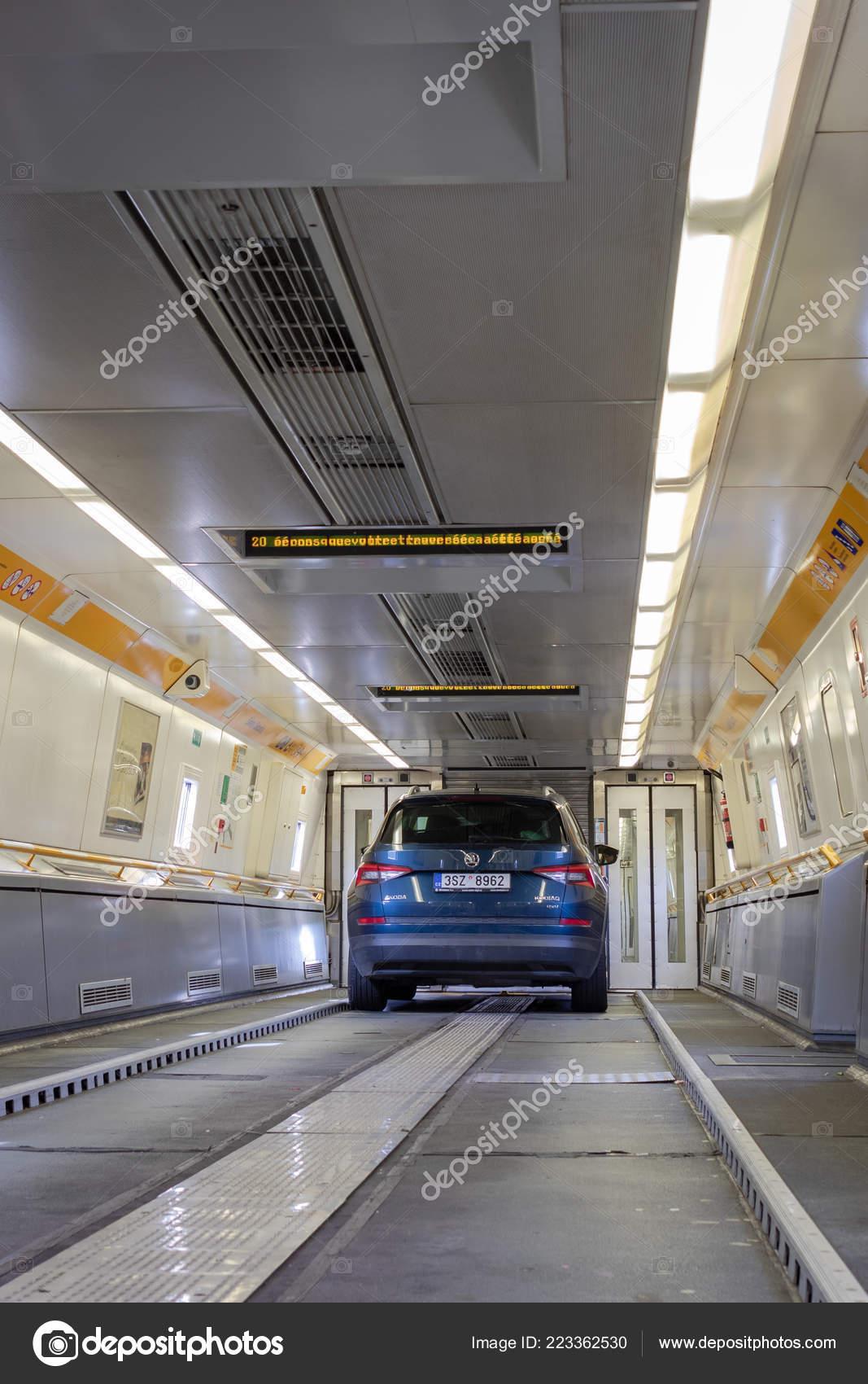 Eurotunnel Trein Frankrijk Verenigd Koninkrijk Juli 2018
