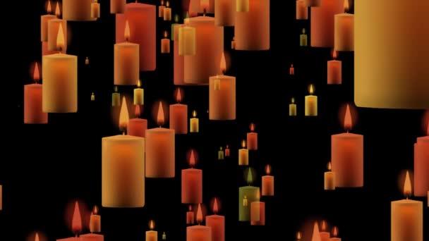 4 k animované pozadí přechodu svíčky bezešvé smyčka