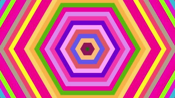 Hypnotische Farbwechsel Sechsecke nahtlose Schleife Animation Hintergrund. Illusion Hintergrund, psychedelische Hintergrund