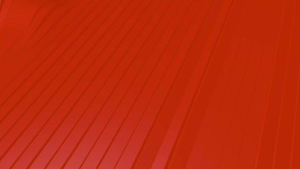 4k 3D animation of rows of orange-colored stripes waving to form rippling and then smoothing to make a repeatable animation.