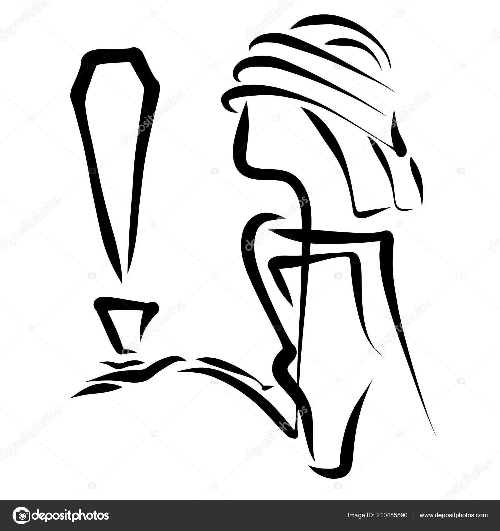 Bir Adam Bir ünlem Işareti Ile Yaratıcı Bir Görüntüsünü Stok Foto
