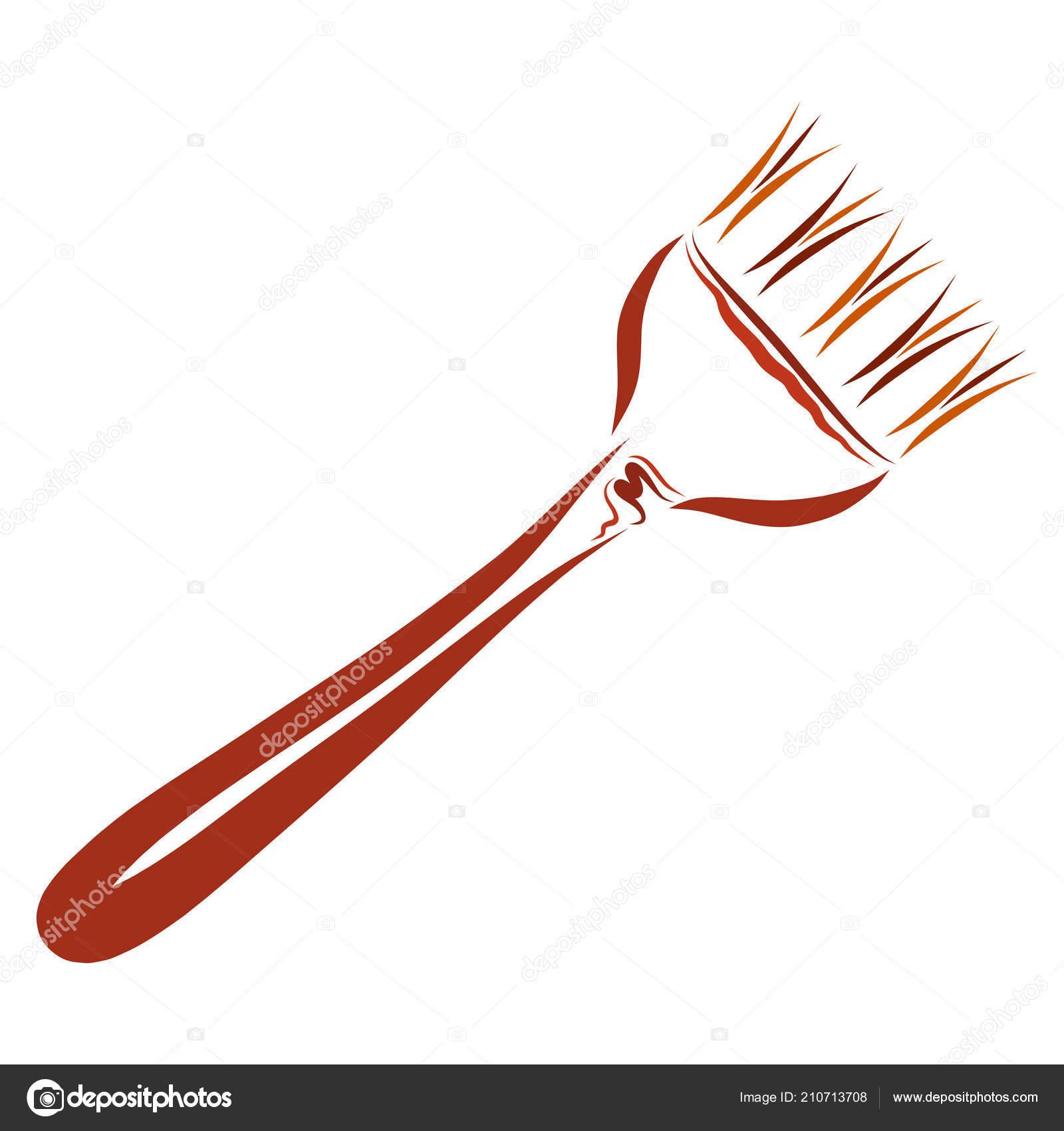 Cepillo Para Colorear Pelo Marrón Trabajo Foto De Stock
