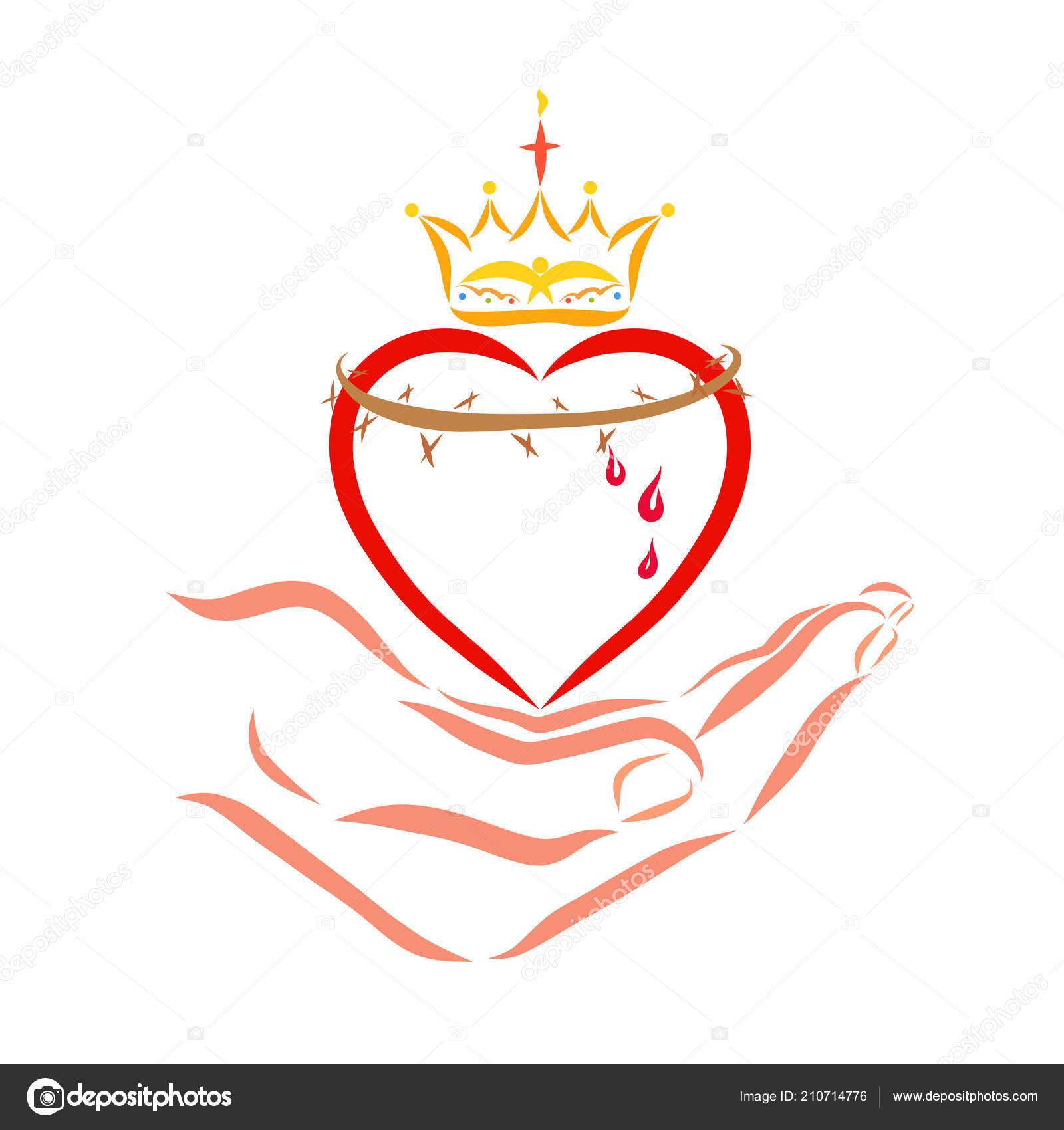 Heart Crown Crown Thorns Hand Savior Yuliya4