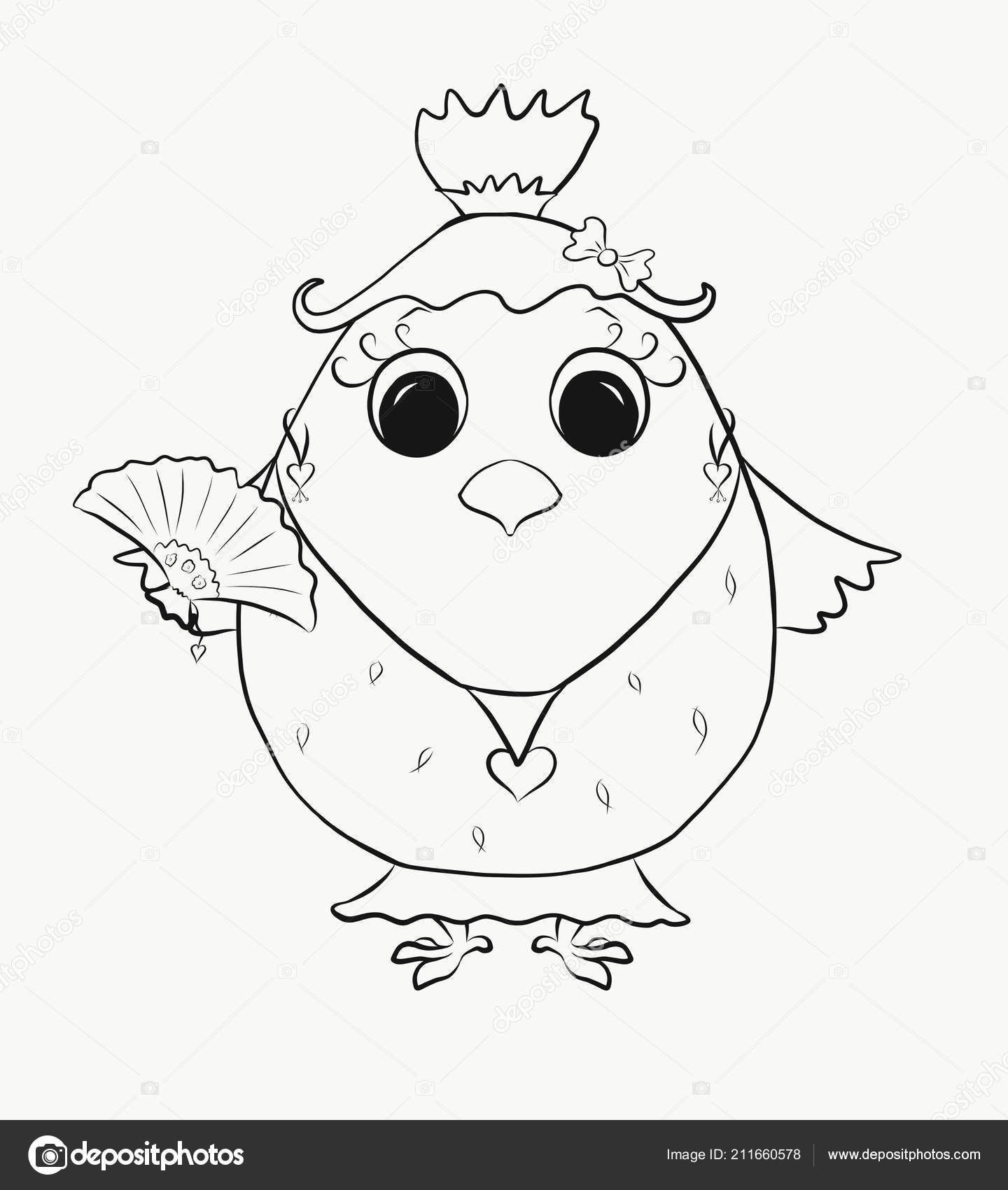 Coloring Picture Of Kids | Coloring Kids Funny Chick Girl Stockfoto C Yuliya4 211660578