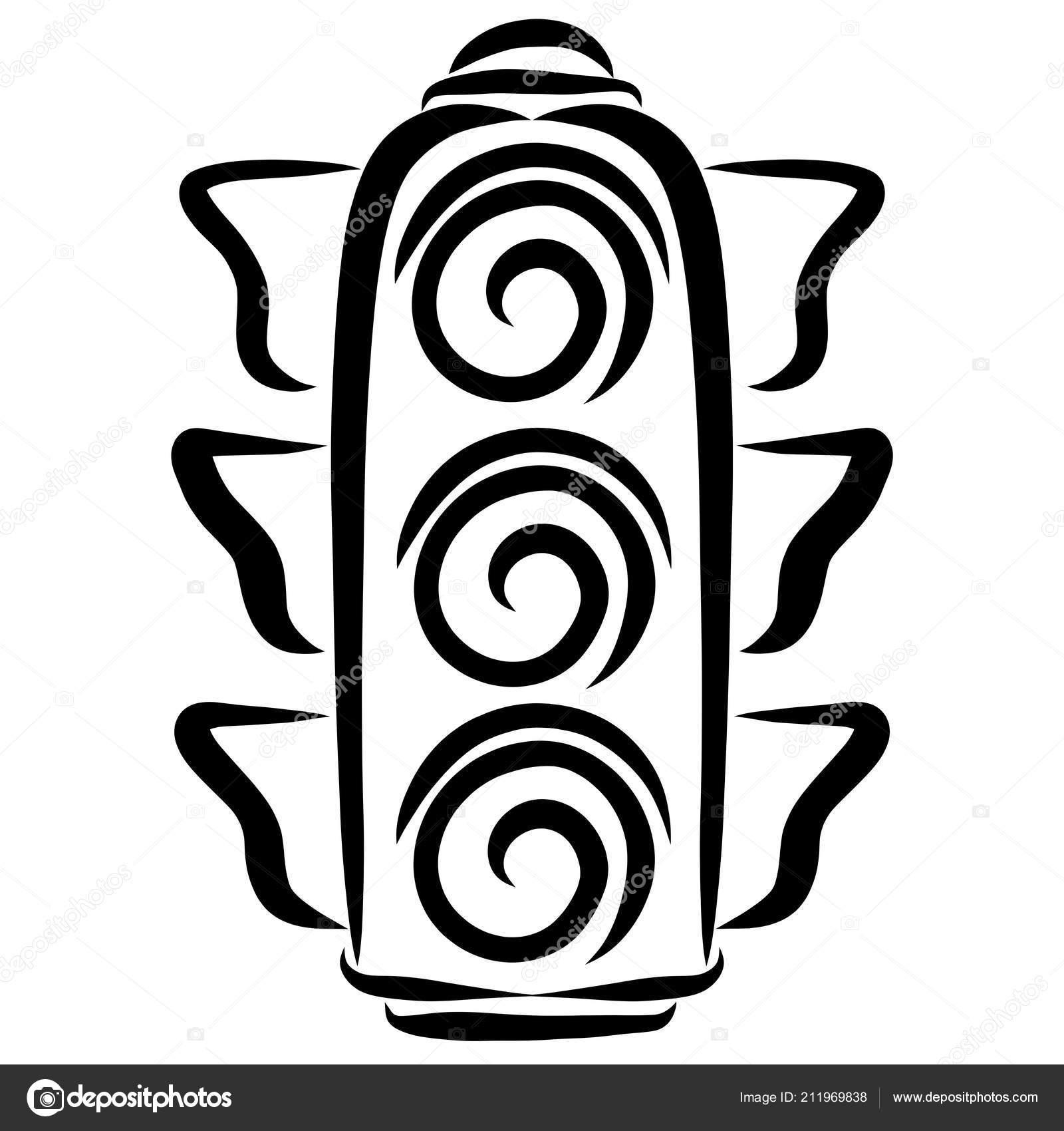 Світлофор Запряженій Чорний Гладких Ліній — Стокове фото — Грін ... 49b34d9ac71ff