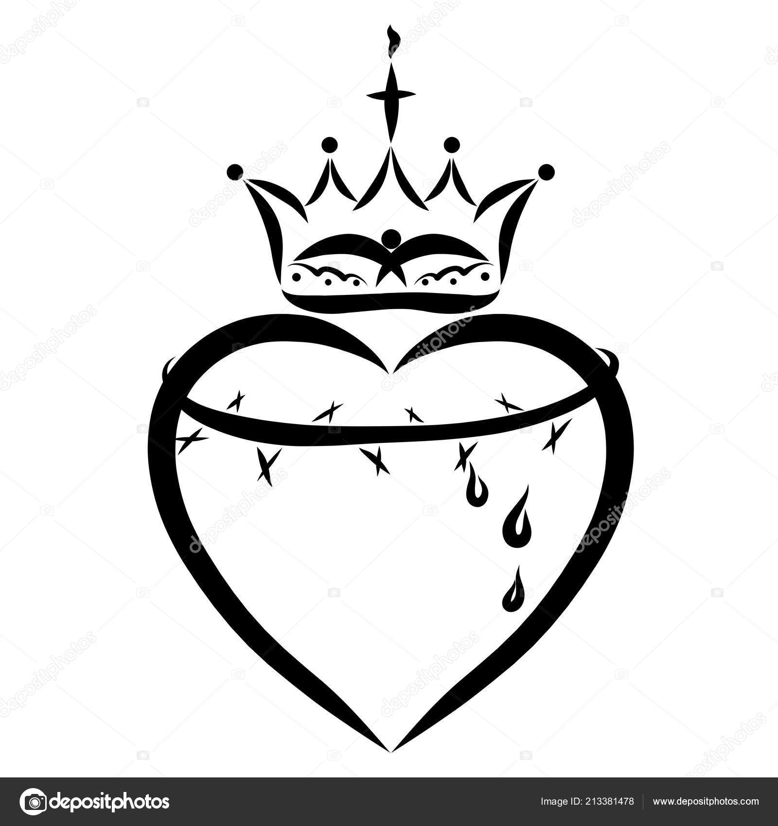 Heart Crown Thorns Redemption Victory — Stock Photo