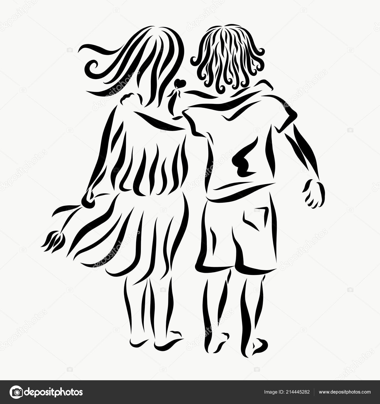 Boy Girl Love Friendship Pattern Stock Photo