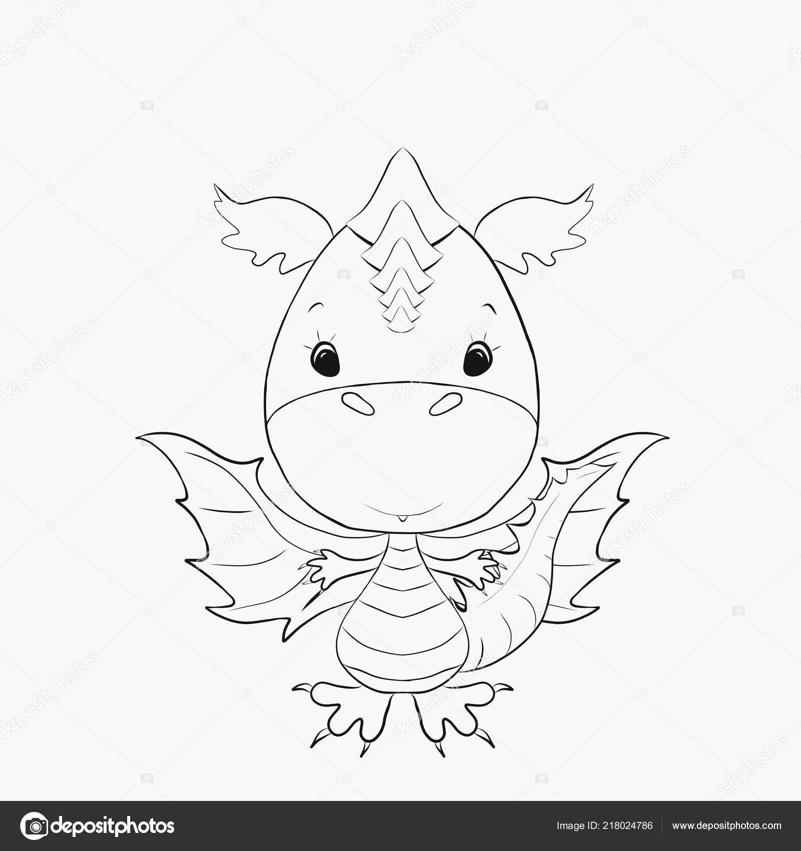 Colorir Pequeno Dragao Animal Dos Namorados Desenho Desenho