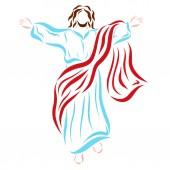 wiederbelebter Jesuschrist im Himmel