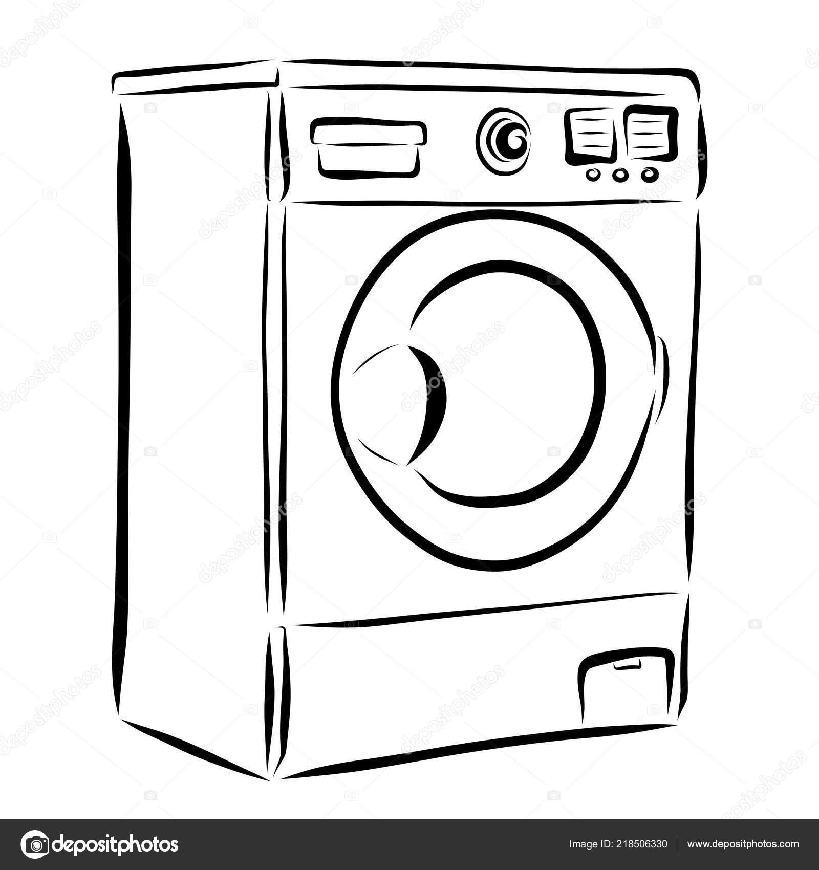 Images Washing Machine Drawing Washing Machine Drawing Black