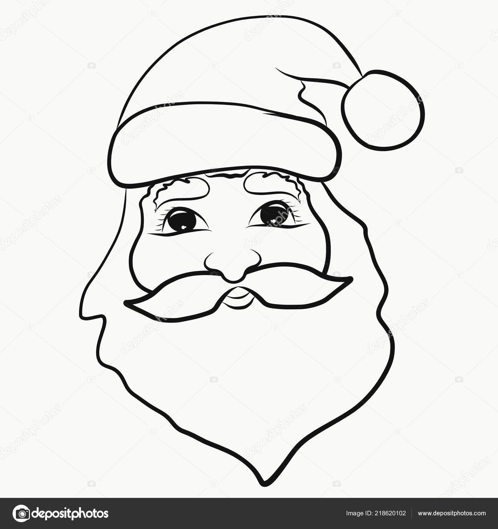 Père Noël Noël Colorier Pour Les Enfants Photographie