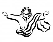 Fotografie The Lord Jesus who conquered death, the risen and ascending Savior