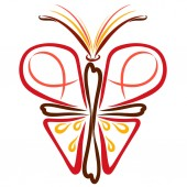 Fotografie Butterfly with Christian symbolism, faith and sacraments