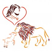 Fotografie Redeemer, Lord Jesus, humble Lamb and royal lion