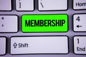 Photo Words writing texts Membership. Business concept for Being member Part of a group or team Join an organization