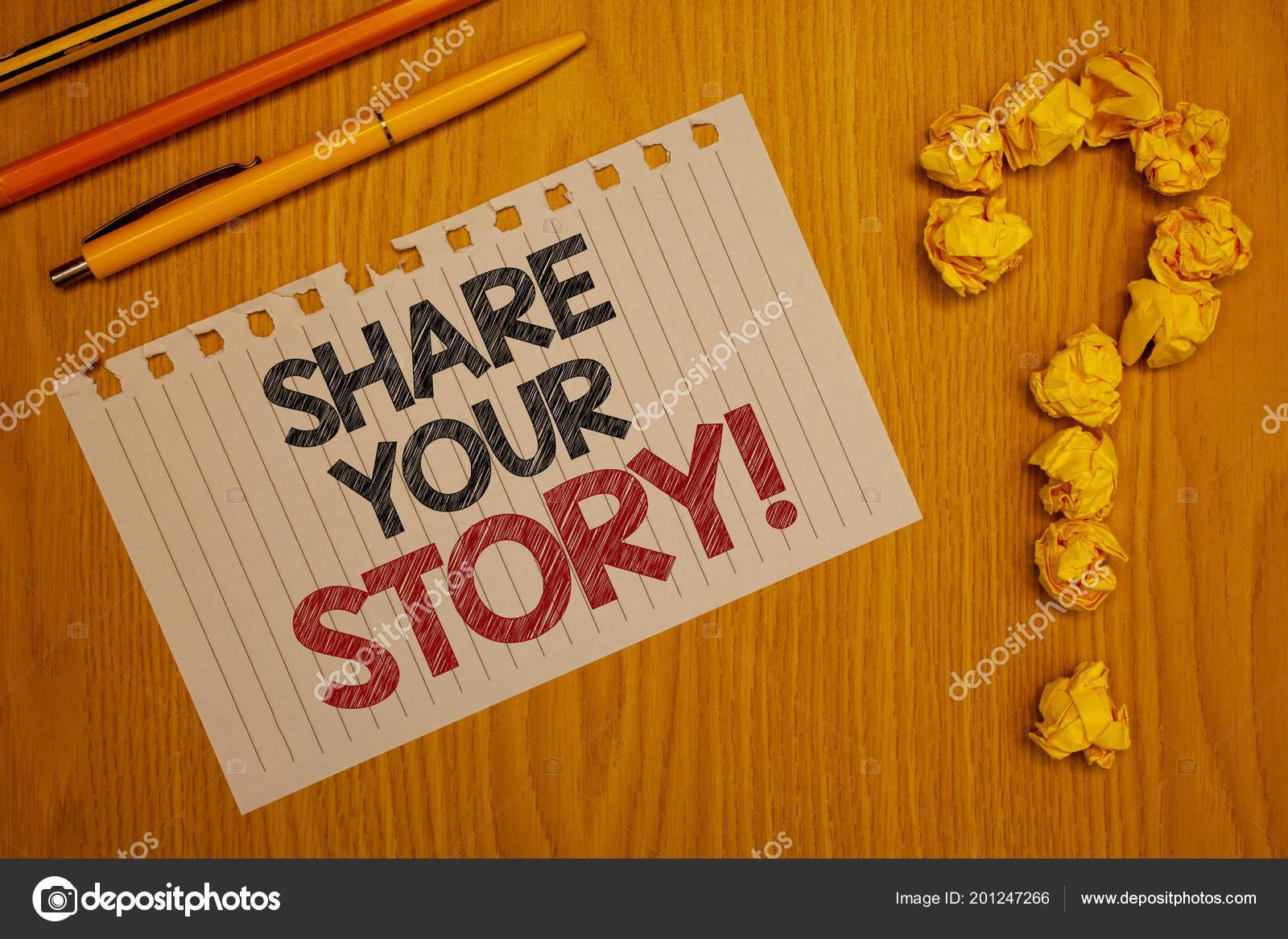 Conceitual Mão Escrevendo Mostrando Compartilhar Sua