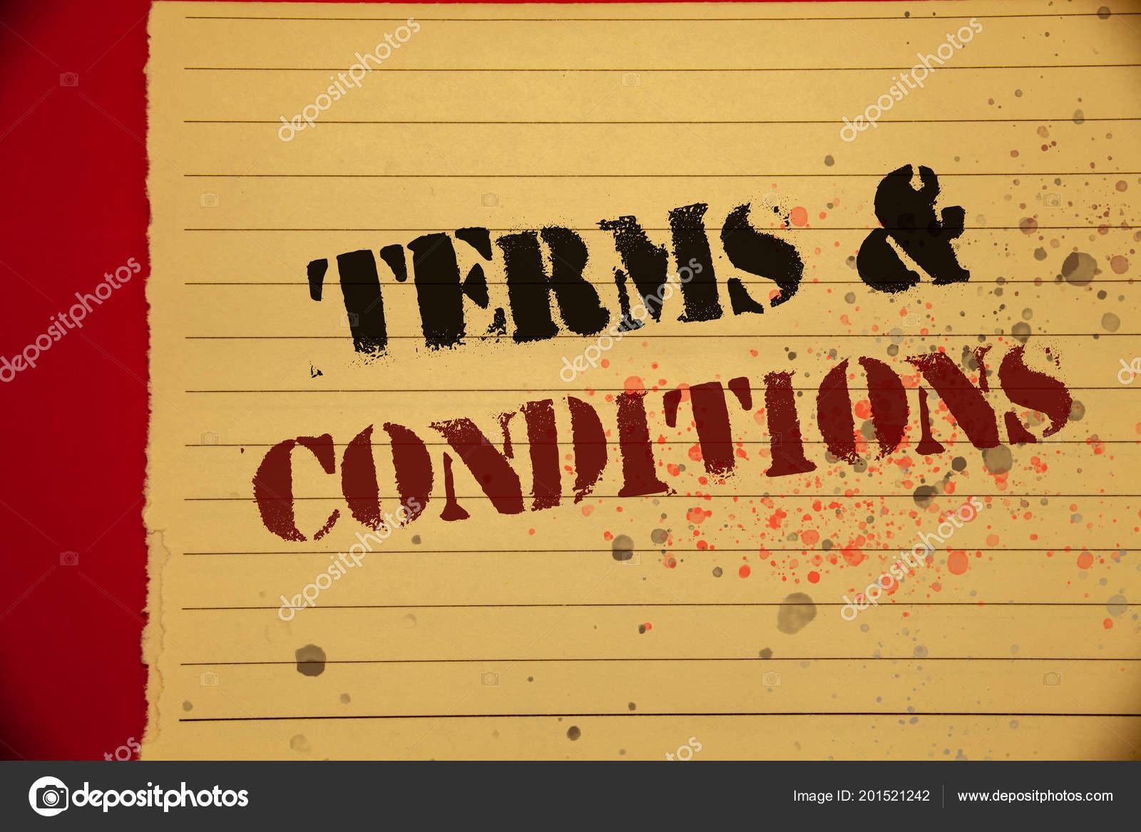 Handschrift Text Terms Conditions Bedeutet Gesetzliche Recht ...