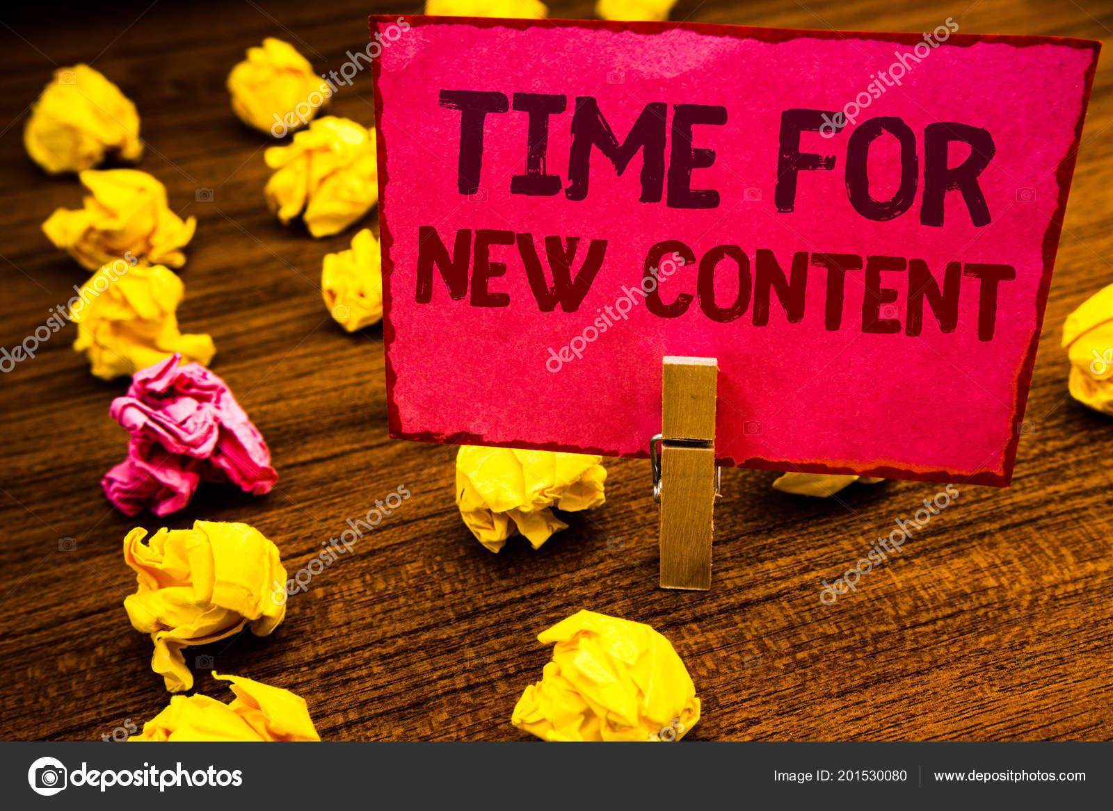 Parte Conceptual Mostrando Tiempo Nuevo Contenido Escritura