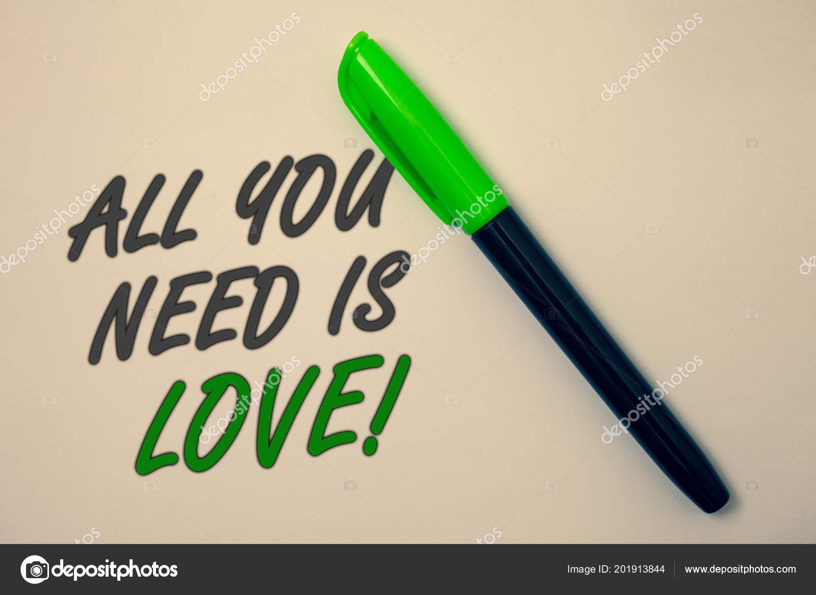 Texto Caligrafia Escrevendo Tudo Que Preciso Amor
