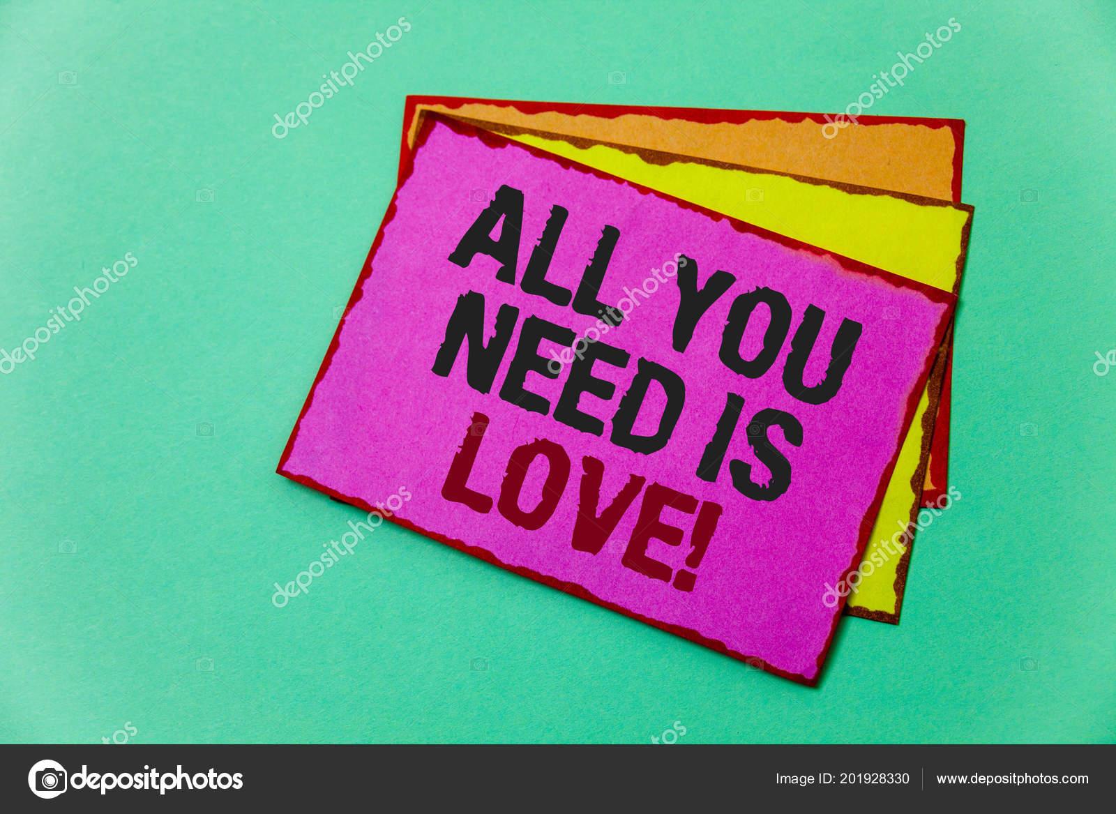 Bilhete Mostrando Tudo Que Preciso Amor Motivacional Foto