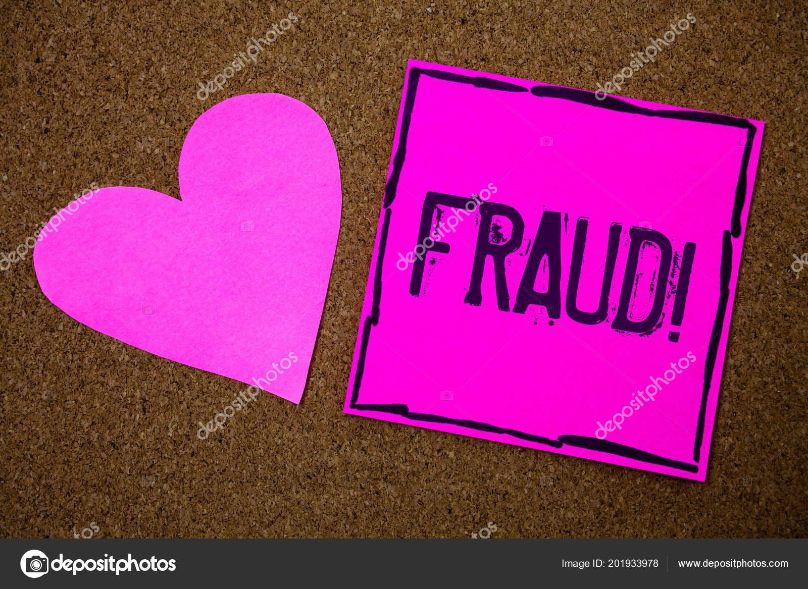 Texto Caligrafia Escrever Fraude Chamam Motivacional