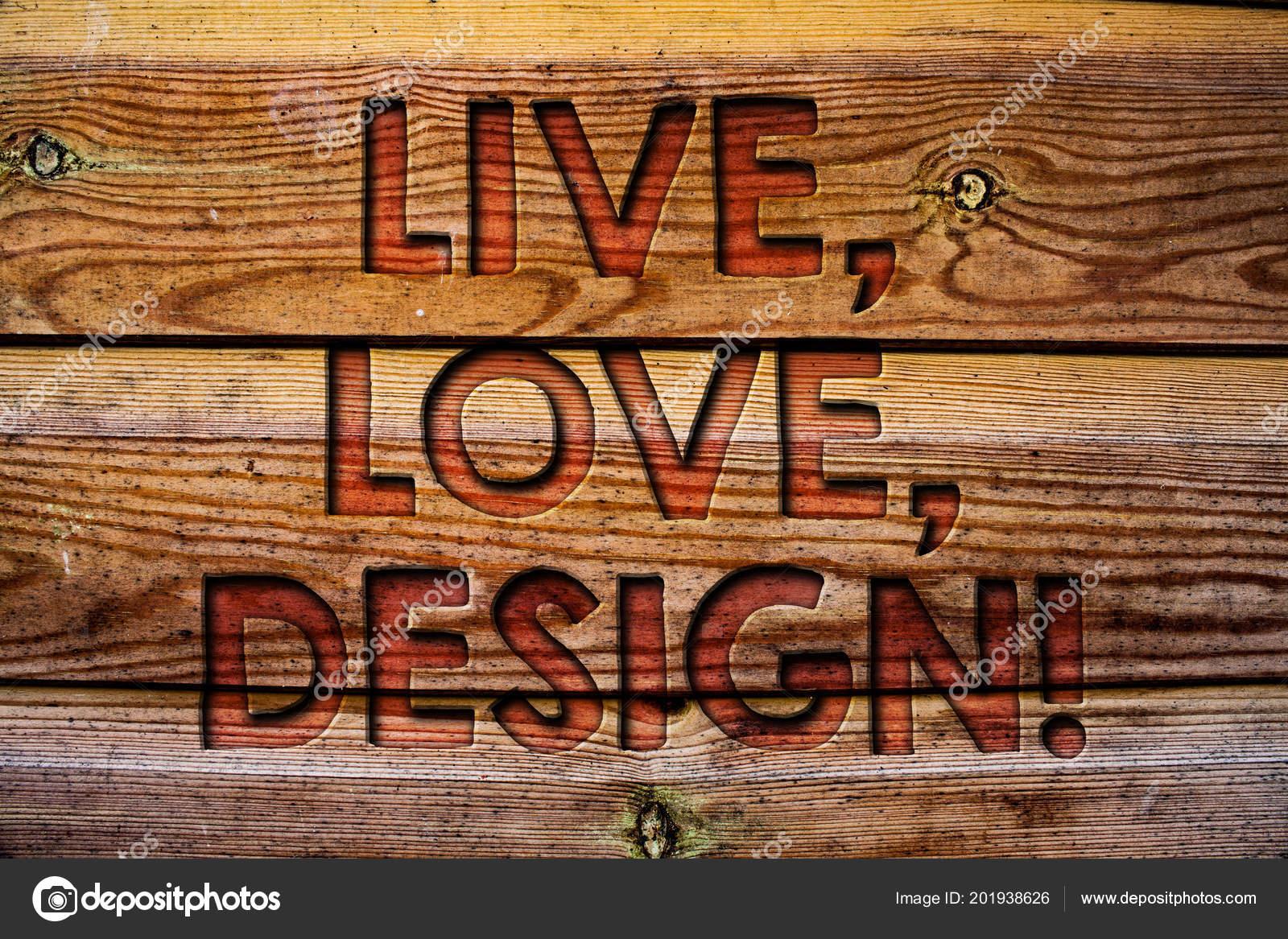 Texto Manuscrito Live Amor Design Chama Motivacional