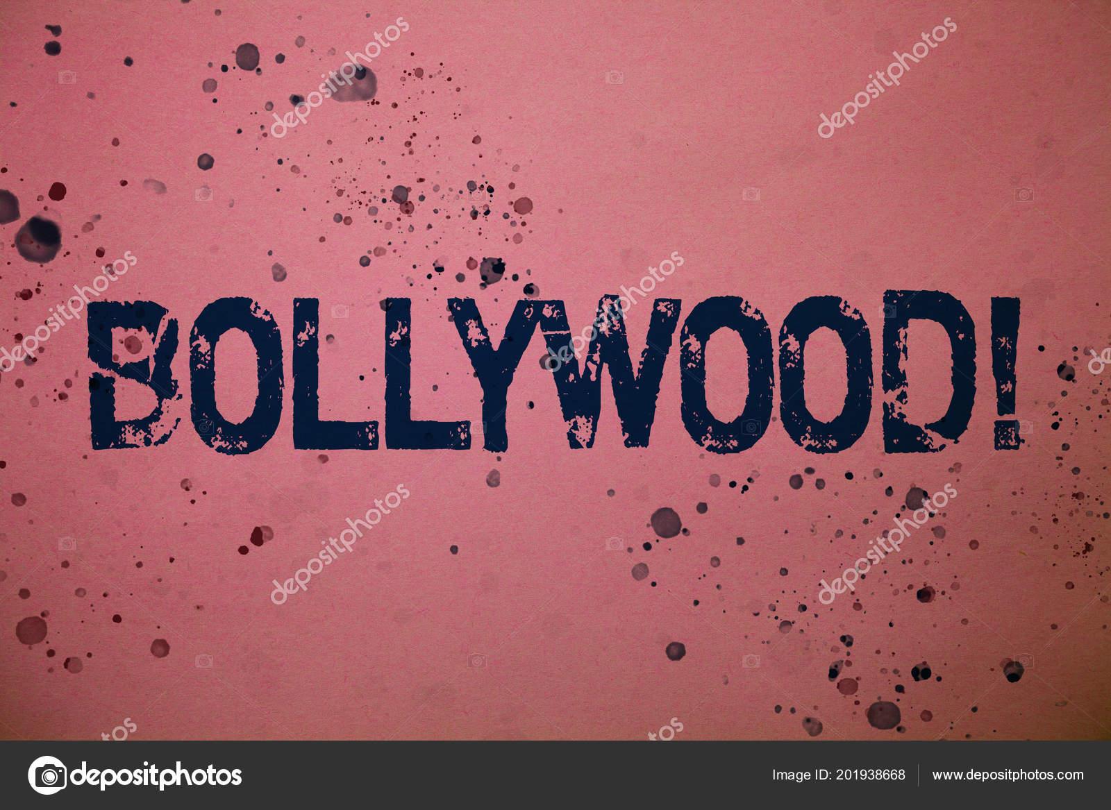 Texto Caligrafia Chamar Motivacional Bollywood Conceito
