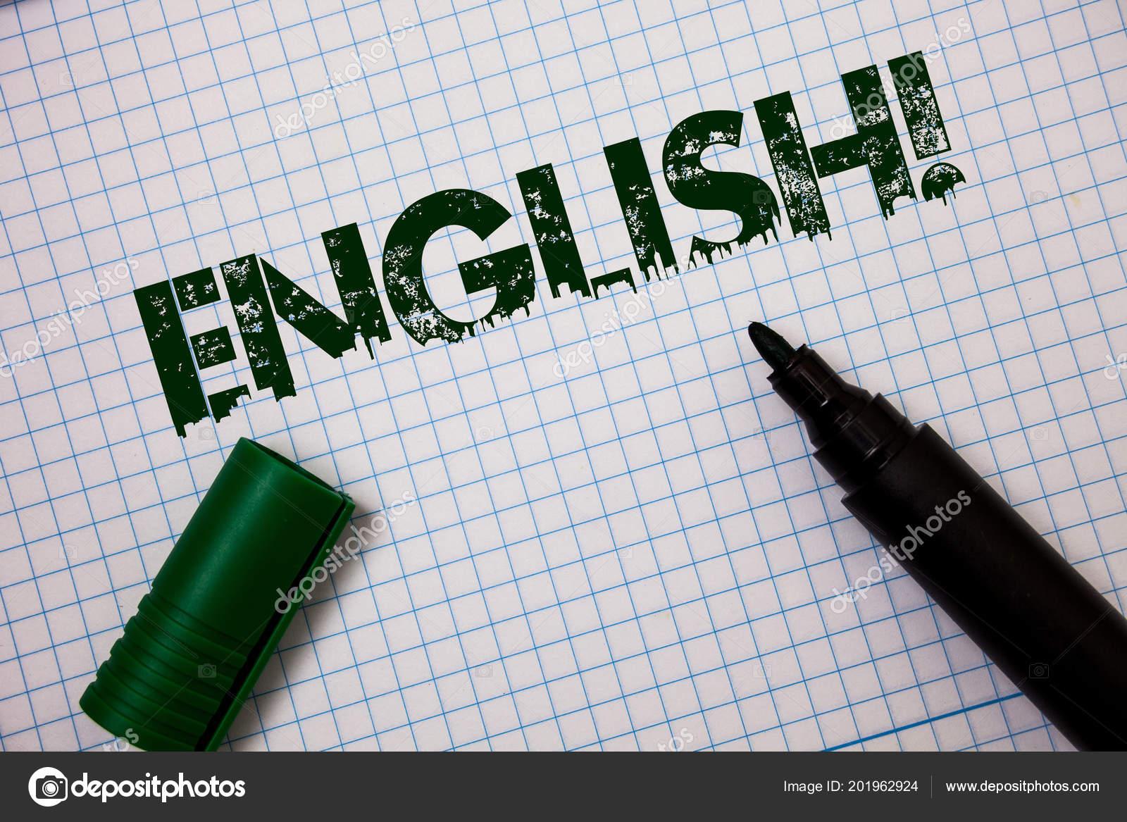 Palavra Escrever Texto Inglês Chamar Motivacional Conceito