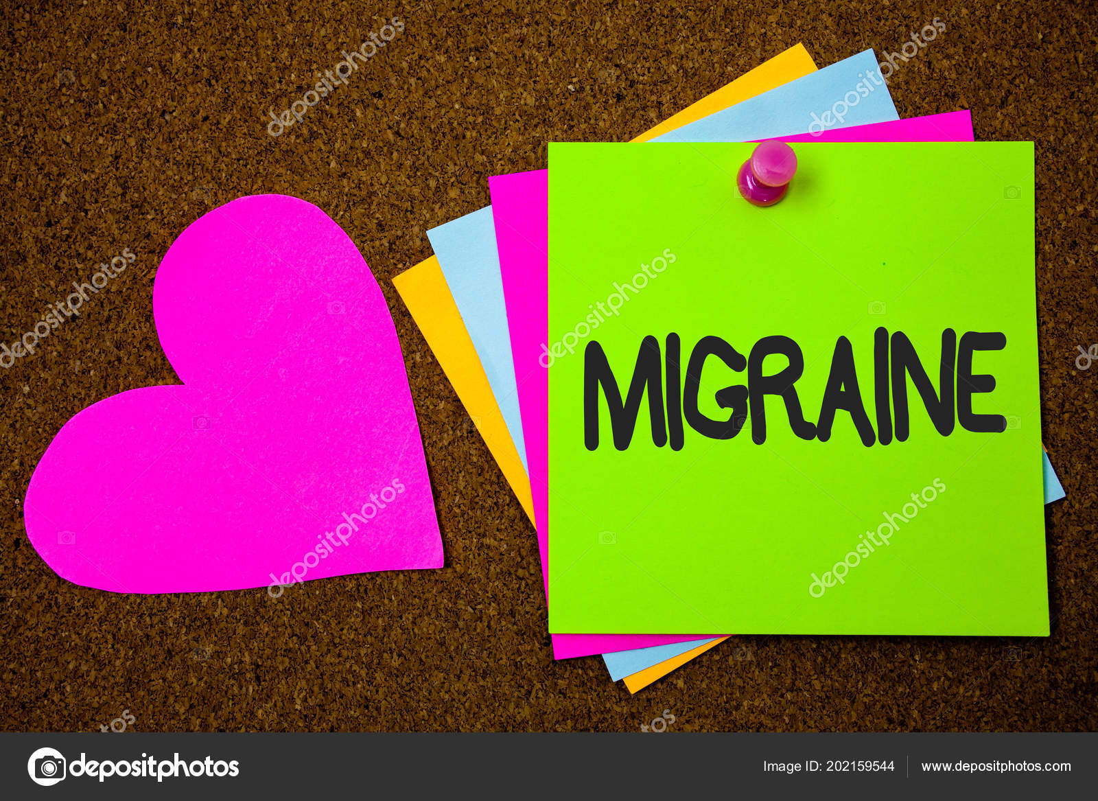Handwriting Text Writing Migraine Concept Meaning Recurrent