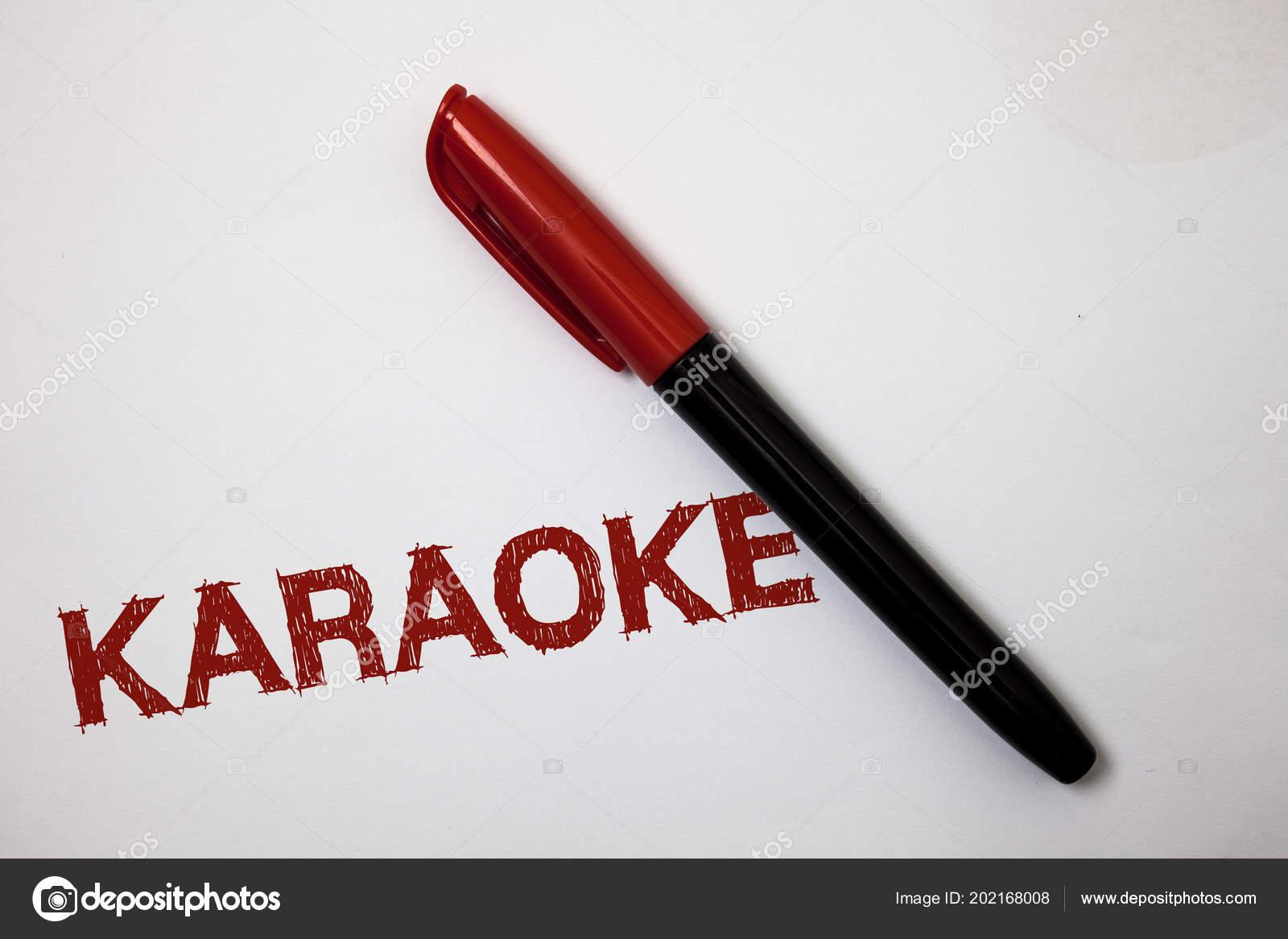 Writing Note Showing Karaoke Business Photo Showcasing