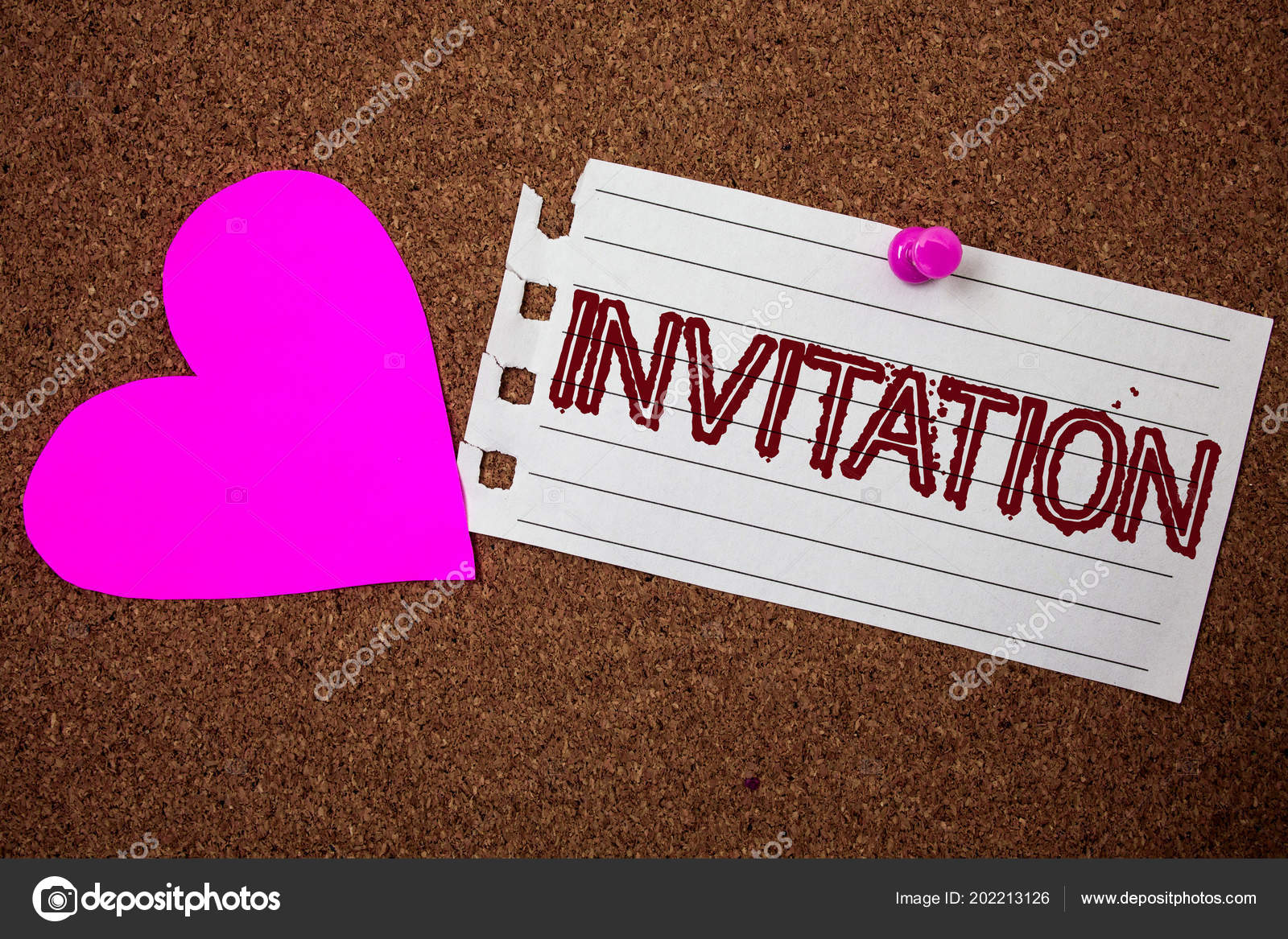 Handwriting Text Invitation Concept Meaning Written Verbal Request
