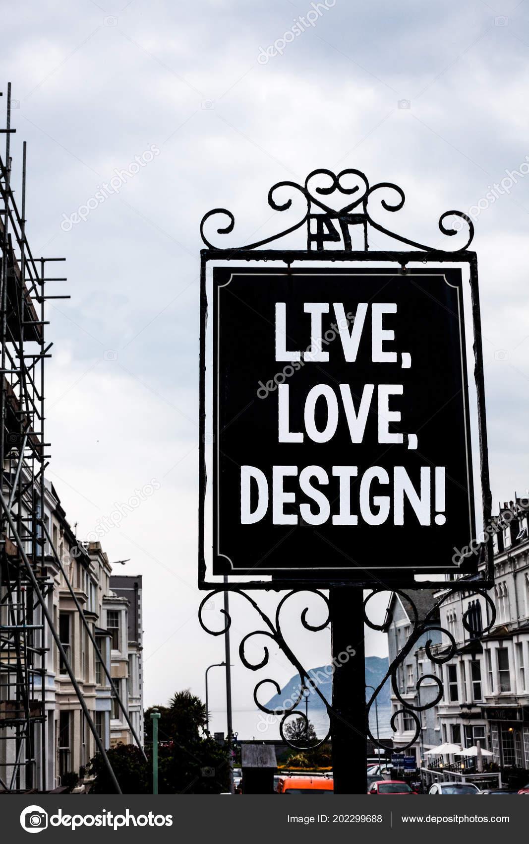 Handschrift Text Schreiben Live Love Design Motivierende Nennen