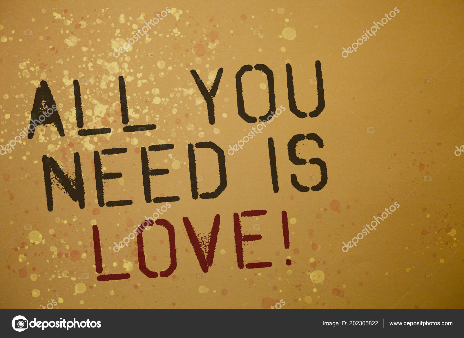 Palavra Escrita Texto Tudo Que Precisa Amor Motivacional
