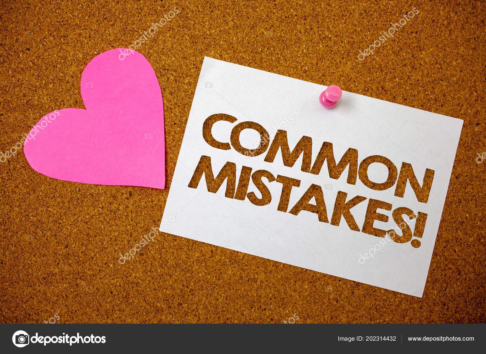 Texto Escrita Comuns Erros Motivacionais Chamar Conceito