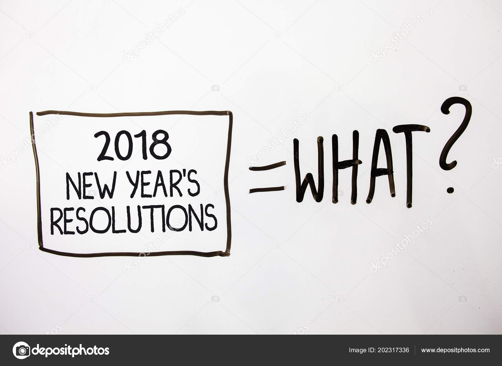 Handwriting Text 2018 New Year Resolutions Concept Meaning List ...