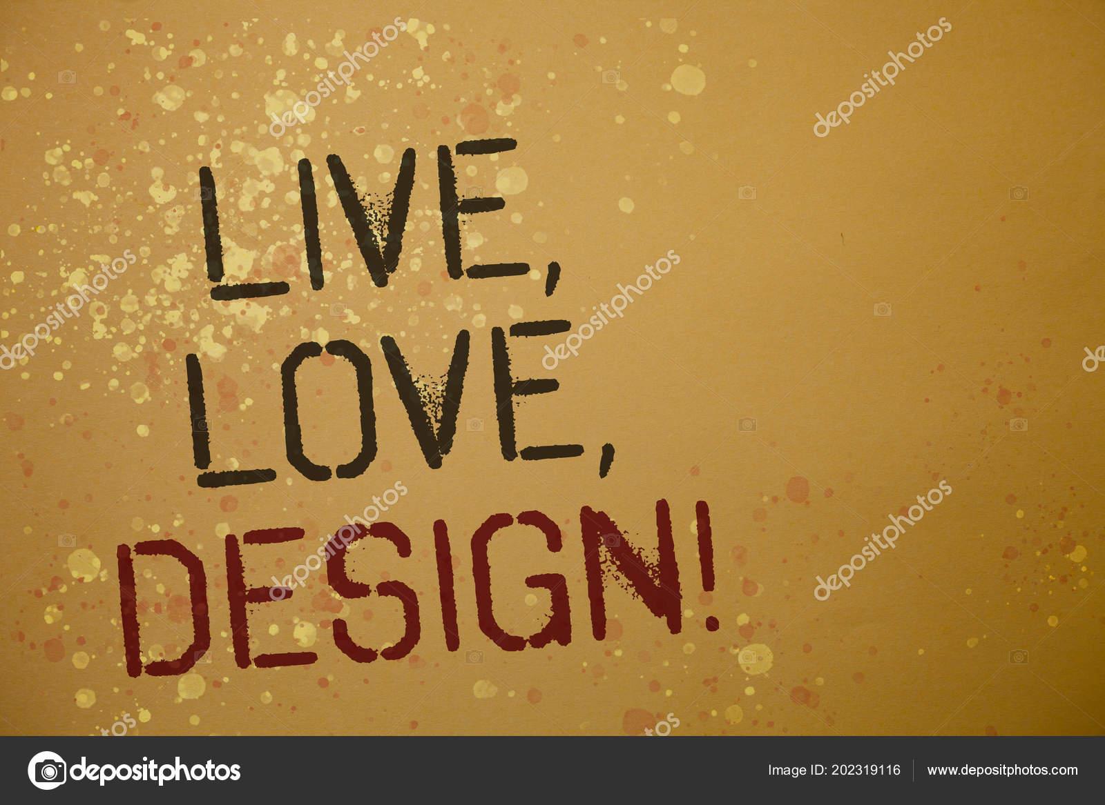 Palabra Escritura Texto Vivo Amor Diseño Motivacional