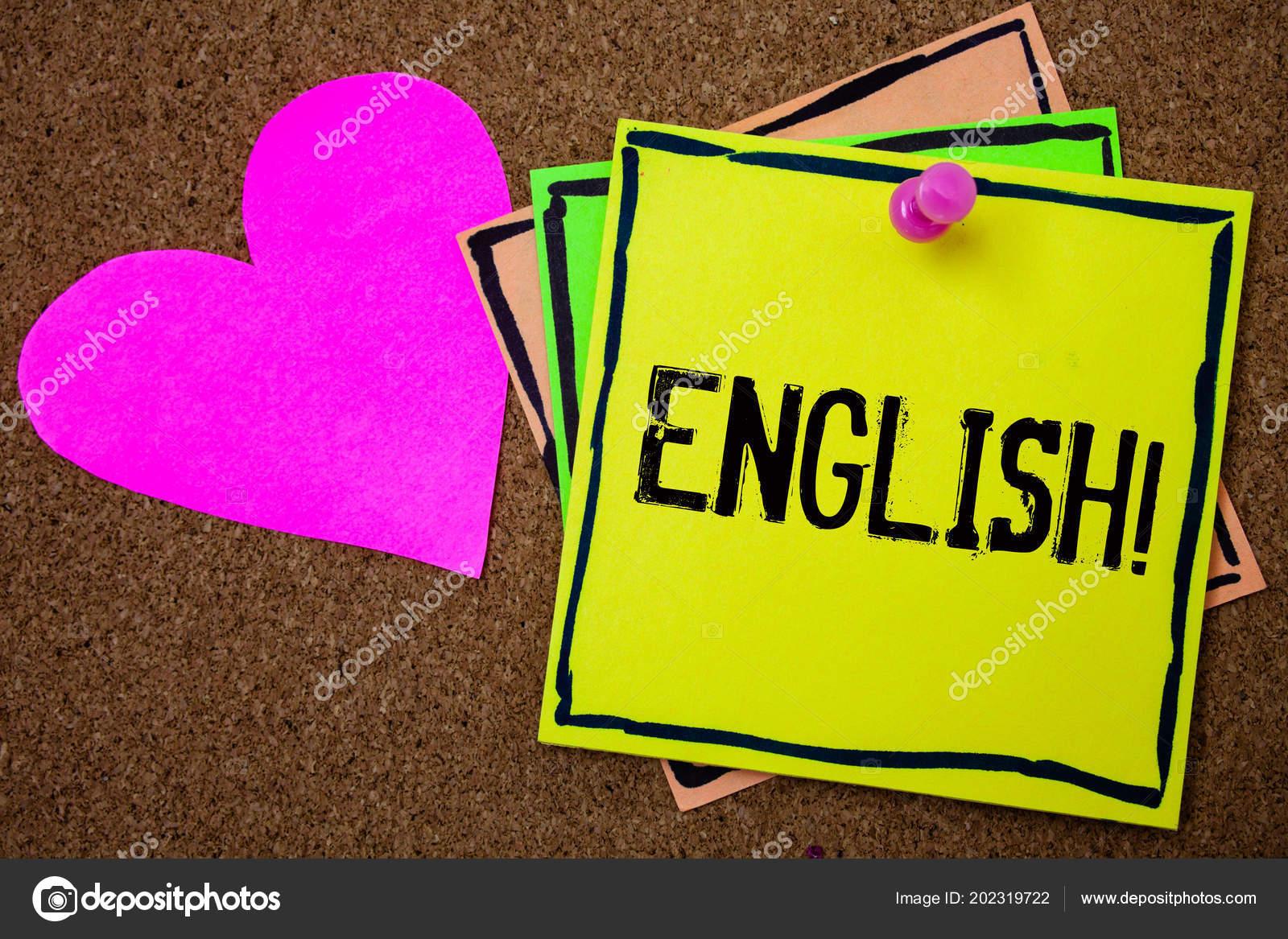 Word Escribir Texto Inglés Llame Motivacional Concepto