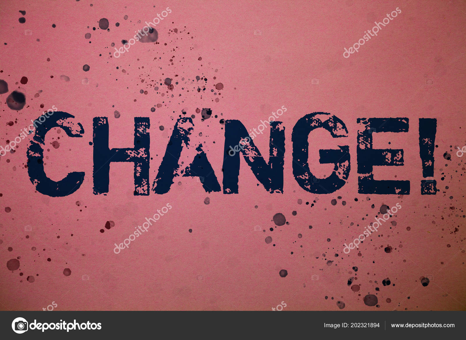 Handwriting Text Change Call Concept Meaning Alteration Adjustment ...