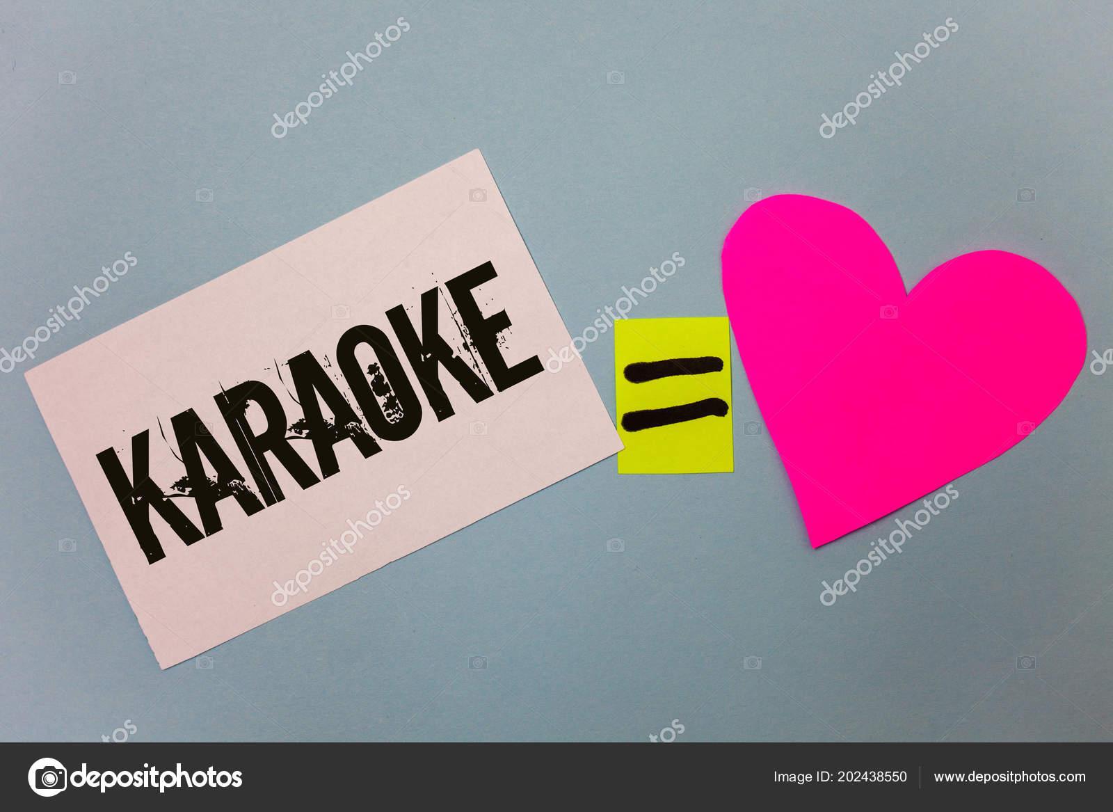 Texto Letra Escrita Karaoke Conceito Significa Cantando