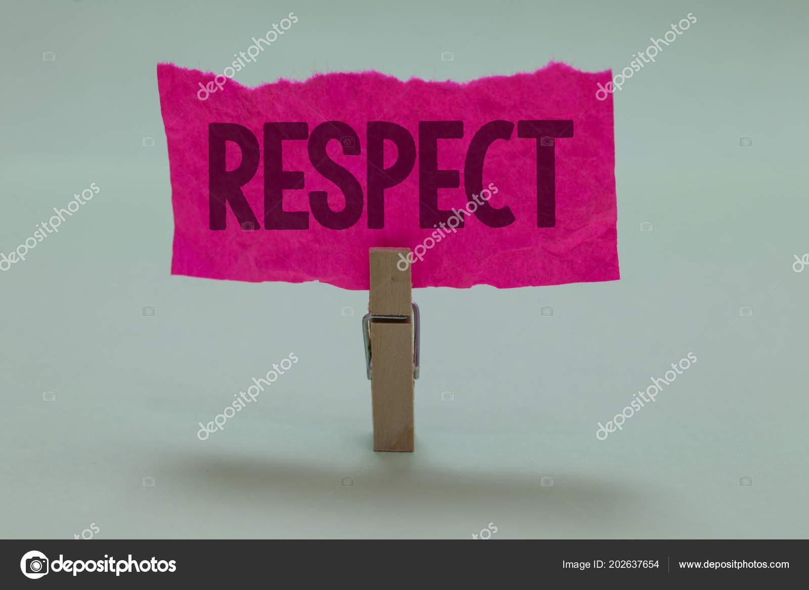 Word Schreiben Text Respekt Business Konzept Fur Gefuhl Der Tiefe