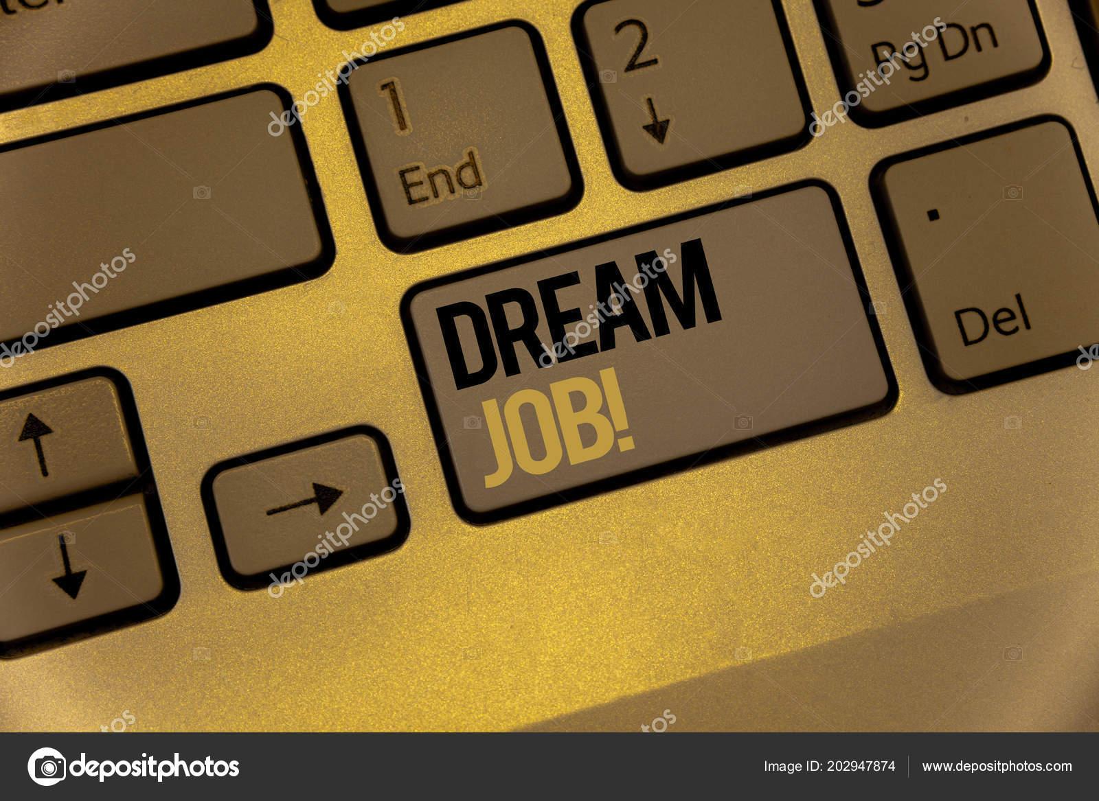 Sinal Texto Mostrando Chamar Motivacional Emprego Sonho Foto