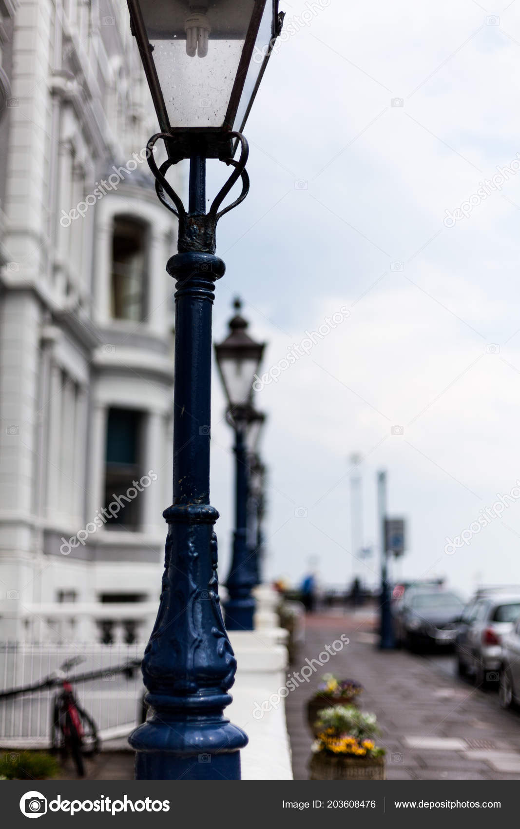 Light Post Road Street Light Post Street Lamp Road Cast Stock