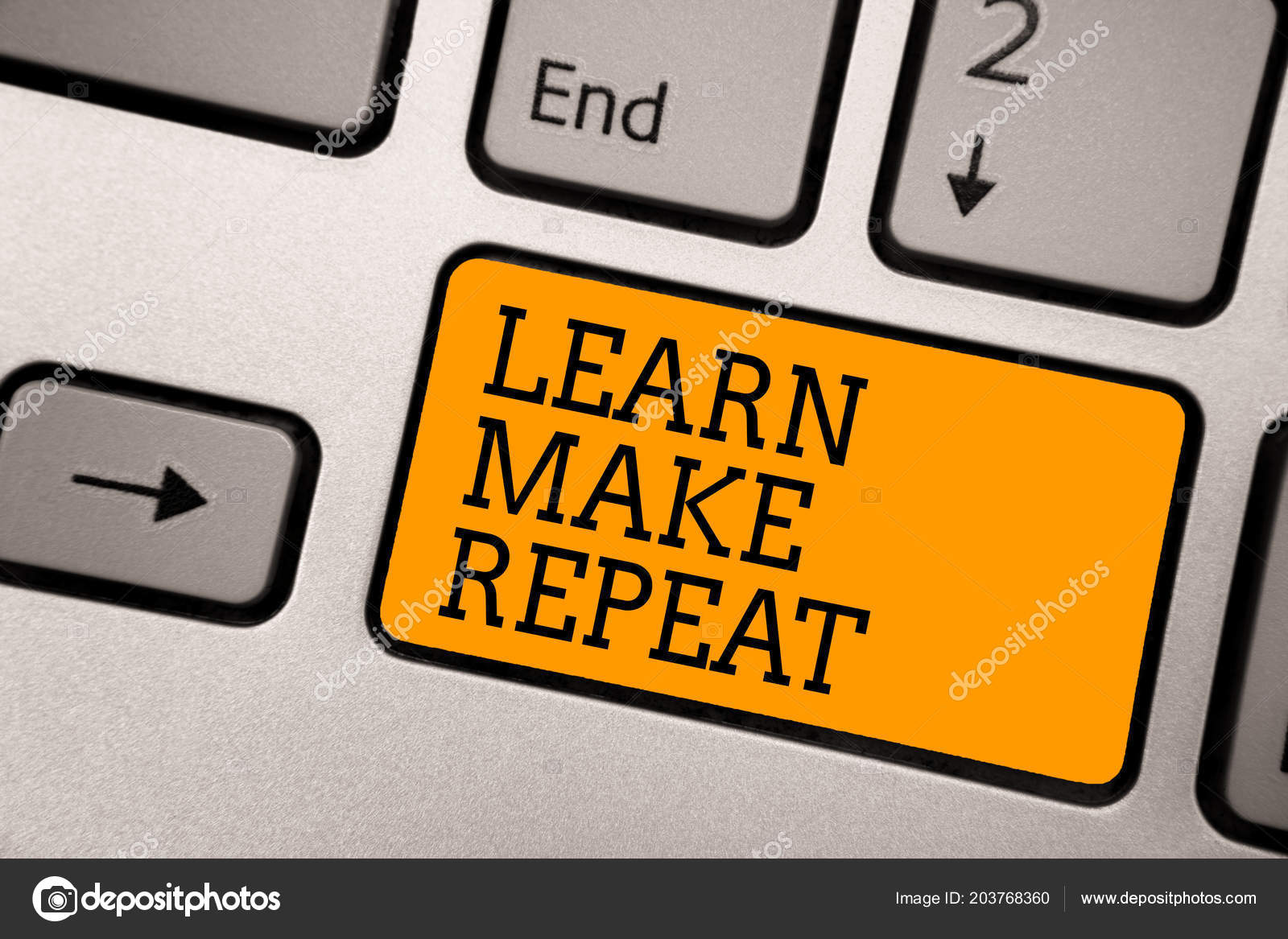 Handwriting Text Writing Learn Make Repeat Concept Meaning Once You